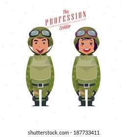 Soldier - vector illustration