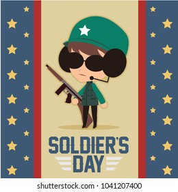 soldier's day illustration