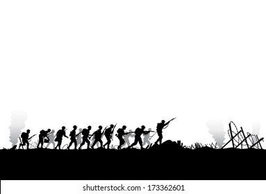 Fighting Soldiers Images, Stock Photos & Vectors | Shutterstock