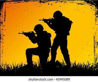 soldiers at war - military poster