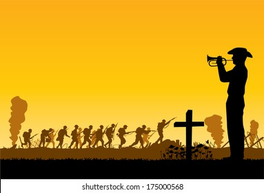 Soldiers at war,vector