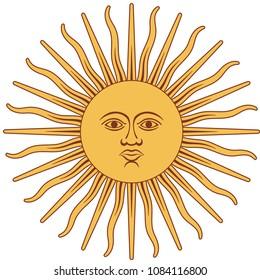 soleil du drapeau argentin