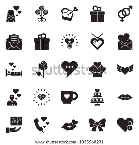 Solid Black Vector Icon Set Rose Stock Vector (Royalty Free