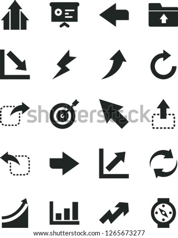 Solid Black Vector Icon Set Right Stock Vector (Royalty Free