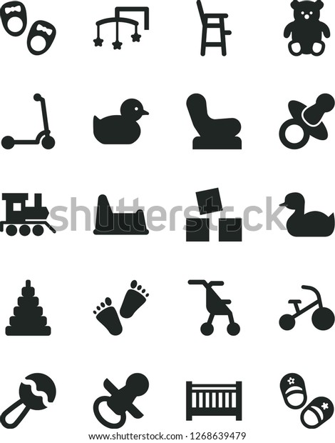 Amazing Solid Black Vector Icon Set Baby Stock Vector Royalty Free Machost Co Dining Chair Design Ideas Machostcouk