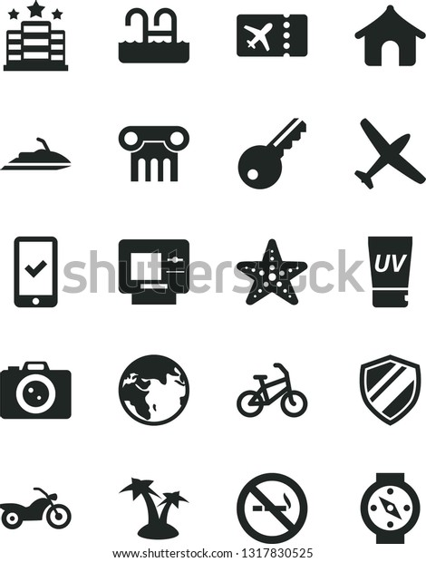 Solid Black Vector Icon Set Earth Stock Vector (Royalty Free