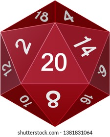A Solid D20 Dice shape For Personal and Commercial use.