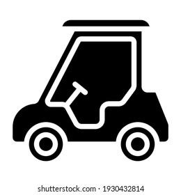 Solid design vector of golf car