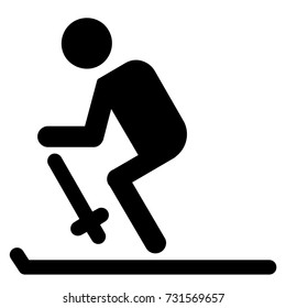 solid ice skating sport icon