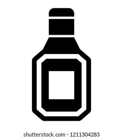 Solid icon design of attar perfume