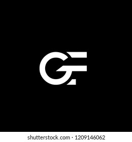 Solid Iconic and Minimal Letter GF Logo Design For Your Business In Vector Format
