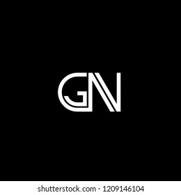 Solid Iconic and Minimal Letter GN Logo Design For Your Business In Vector Format