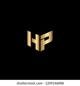 Solid Iconic and Minimal Letter HP Logo Design For Your Business In Vector Format