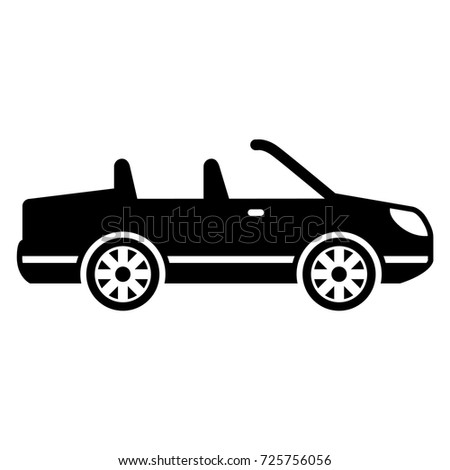 Solid Luxury Car Icon Designed Good Stock Vector Royalty Free