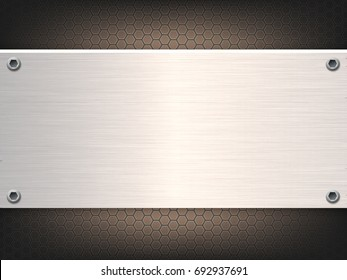Solid metal sheet abstract background.