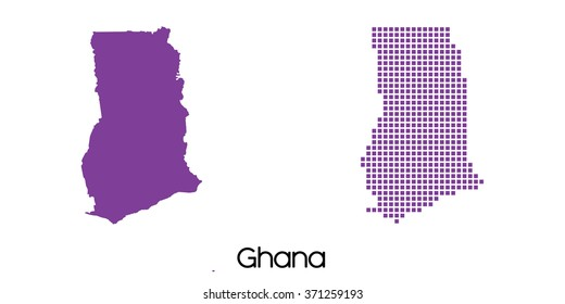 A Solid and Mosaic Map of  Ghana