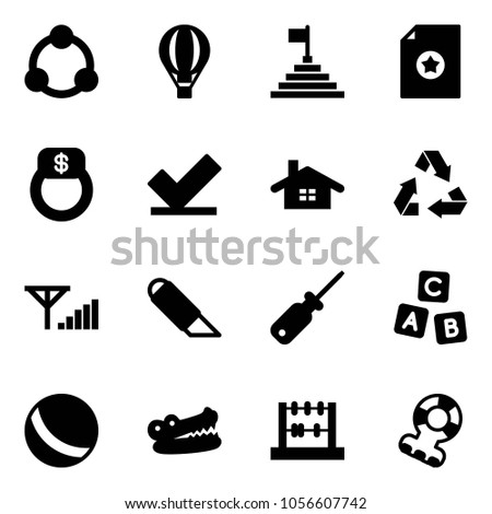 c9f3fff2fbf8d Solid Vector Icon Set Community Air Stock Vector (Royalty Free ...