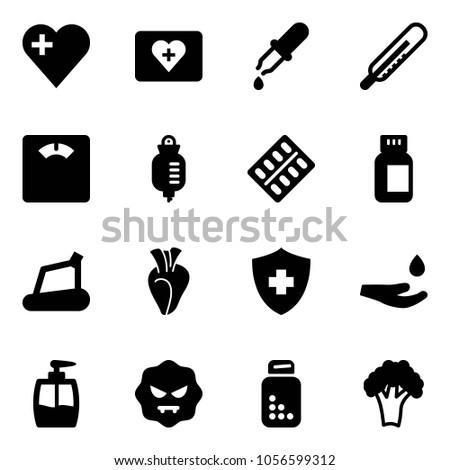 Solid Vector Icon Set Heart Vector Stock Vector (Royalty Free