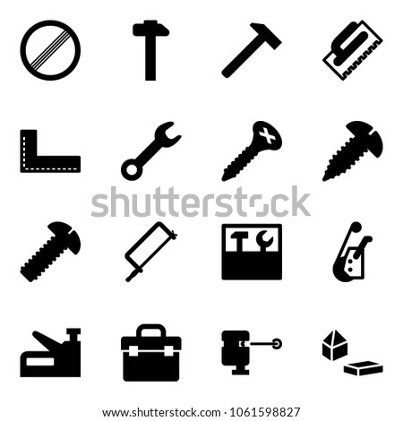Solid Vector Icon Set No Limit Stock Vector Royalty Free