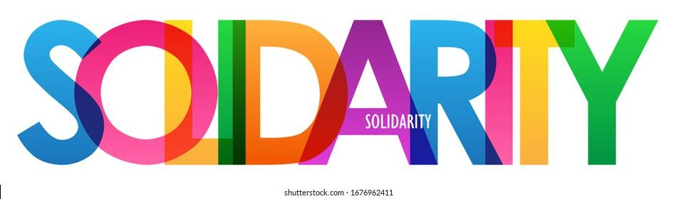 SOLIDARITY rainbow vector typography banner