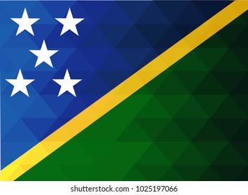Solomon Flag vector illustration. Solomon  Flag. National Flag of Solomon. Mosaic flag. Vector