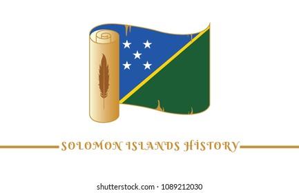 Solomon Islands flag and Solomon Islands history