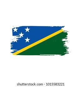 Solomon Islands flag, vector illustration