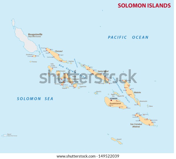 Solomon Islands Map Stock Vector (Royalty Free) 149522039