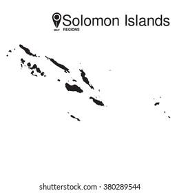 Solomon Islands map regions