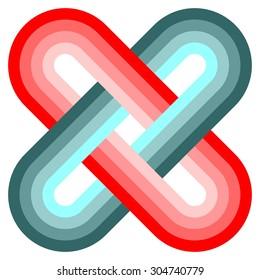 Solomon knot icon vector, logo design