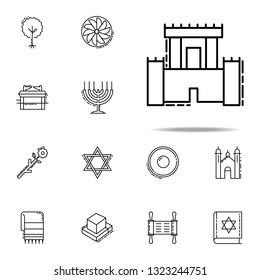 Solomon Temple icon. Judaism icons universal set for web and mobile