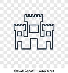Solomon Temple In Jerusalem concept vector linear icon isolated on transparent background, Solomon Temple In Jerusalem concept transparency concept in outline style