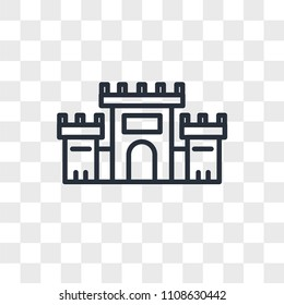 Solomon Temple In Jerusalem vector icon isolated on transparent background, Solomon Temple In Jerusalem logo concept
