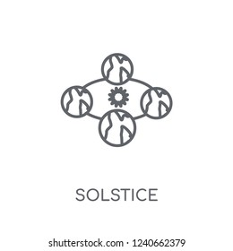 Solstice linear icon. Modern outline Solstice logo concept on white background from ASTRONOMY collection. Suitable for use on web apps, mobile apps and print media.