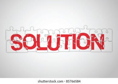 Solution jigsaw concept vector