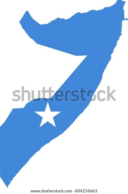 Somalia Flag Map Stock Vector Royalty Free 604256663