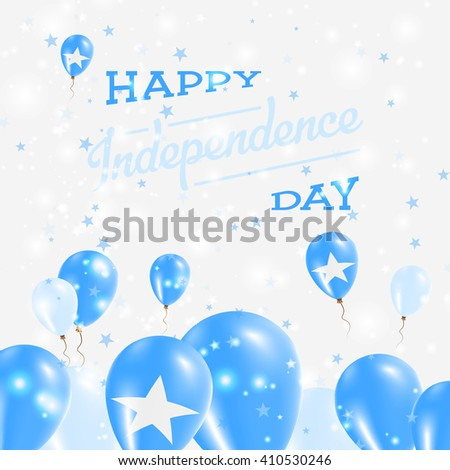 Somalia independence day patriotic design balloons stock vector somalia independence day patriotic design balloons in somali national colors happy independence day somalia m4hsunfo