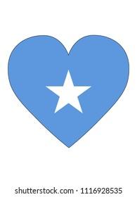 Somalia Love Flag