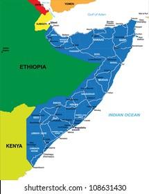 Somalia map