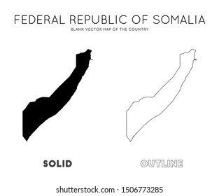 Somalia map. Blank vector map of the Country. Borders of Somalia for your infographic. Vector illustration.