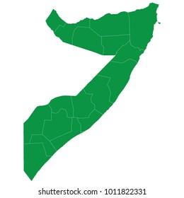 Somalia map isolated on transparent background. high detailed Green map of Somalia. Vector illustration eps 10. Blank Green similar Somalia map isolated on white background.
