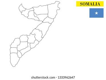 Somalia map vector illustration