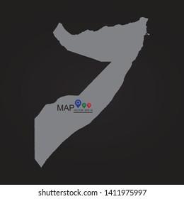 Somalia map Vector illustration eps 10. - Vector