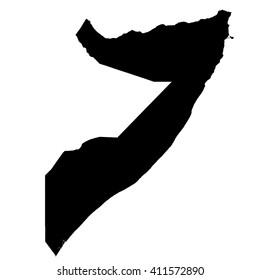 Somalia map vector, Somalia vector, isolated Somalia