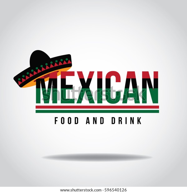 Sombrero icon design for Mexican restaurant or other business. EPS 10 Vector.