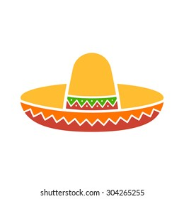 Sombrero / Mexican hat colorful flat vector icon for apps and websites