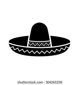 Sombrero   Mexican hat flat vector icon for apps and websites 193bff58d85