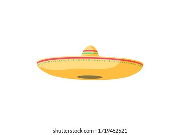 Sombrero. Mexican hat. vector Illustration isolated on a white background