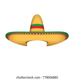 Sombrero - Mexican hat - vector illustration isolated on white