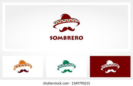Sombrero Mustache Logo